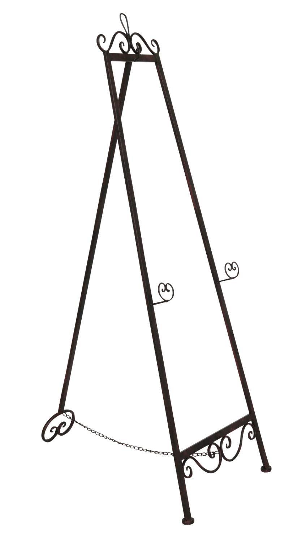 Quadri da cavalletto 130cm cavalletto stile antico marrone bacheca espositore