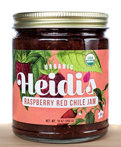Heidis Raspberry Farm, Jam Raspberry Red Chili Organic, 10 Ounce
