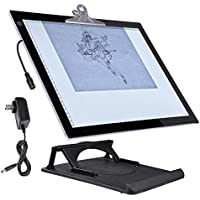 Yescom A3 LED Tracing Light Box with Stand 16x13 Active Area Stencil Board Tattoo Drawing Table Display Pad 19x14