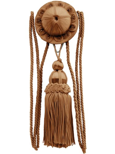 House of Antique Hardware R-010SV-166 Flora Rosette and Tassel Picture Hanger Kit with Rail Hook in Copper ()