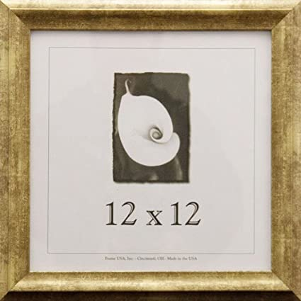 Amazoncom 12x12 Wood Picture Frame Gold Single Frames