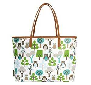 Dwellstudio Madison Diaper Bag, Owls (Discontinued by Manufacturer)