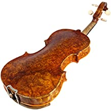 Sky 3/4 Size NY100 Bird's Eye Vintage Violin Guarantee Grand Mastero Sound Professional Hand-Made Hand-Crafted Acoustic Violin