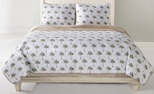 Panama Jack Palm Tree Quilt Set, King (Christmas Tree Quilt)