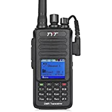 TYT Upgraded MD-390 DMR Digital Radio, with GPS Function! Waterproof Dustproof IP67 Walkie Talkie Transceiver, VHF 136-174MHz Two-Way Radio, Compatible with Mototrbo, with 2 Antenna, Black