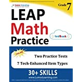 LEAP Test Prep: 7th Grade Math Practice Workbook and Full-length Online Assessments: LEAP Study Guide
