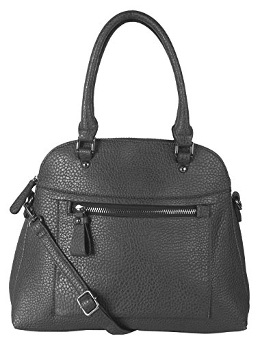 Diophy Large Faux PU Leather Tote Woman Business Shoulder Handbag With Removable Strap ZD-2498 Grey by Diophy