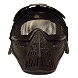 ChYoung Full Face Mask with Safety Metal Mesh Goggles Protection Glasses Eyewear Eye Protection Mask