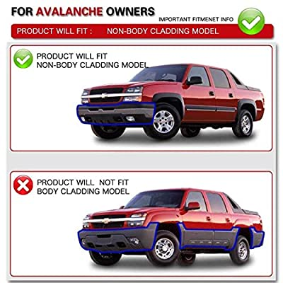 Headlight Assembly Kit Replacement for 2003-2006 Chevy Avalanche/ 2003-2007 Chevy Silverado 1500HD/ 2003-2006 Chevy Silverado 2500HD, Front Signal Light Included (Not for Body Cladding Models): Automotive