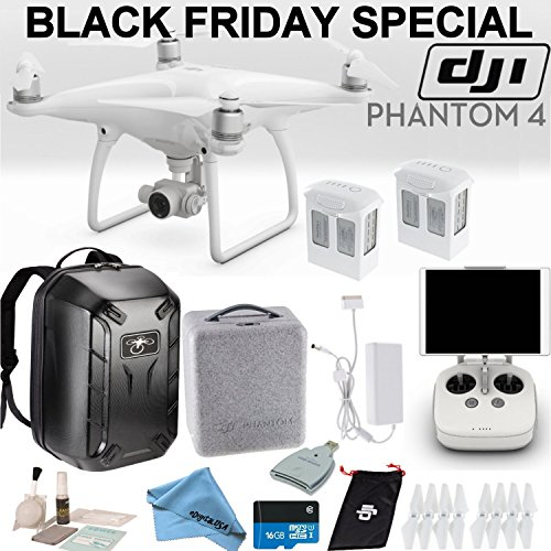 DJI-Phantom-4-Quadcopter-Backpack-Bundle-Includes-2-Phantom-4-Batteries-Soft-Padded-Backpack-16GB-MicroSD-Card-and-more