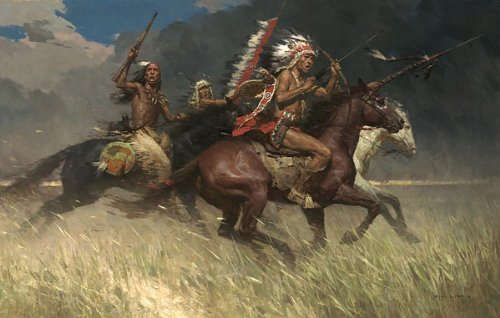Z S Liang – Circling the Enemy 34 x 21 Gicleeキャンバスの   B06WLN1WTL