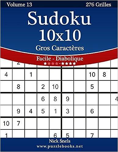 Sudoku 10x10 Gros Caracteres Facile A Diabolique Volume