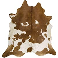 RODEO Pure Brown & White Superior Cowhides Rug Large Size 6x8Feet 180cm x 240cm