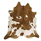 RODEO Pure Brown & White Superior Cowhides Rug Large Size 6x8Feet 180cm x 240cm For Sale