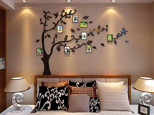 3d Picture Frames Tree Wall Murals For Living Room Bedroom