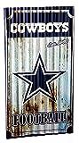 Team Sports America NFL Dallas Cowboys Corrugated Metal Wall Art, Small, Multicolored