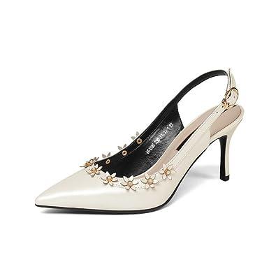 Neue Hohlen Vier Jahreszeiten Feinen Hochhackigen Sandalen Mode Spitzen Blumen Hohlen Riemen Leder Damenschuhe