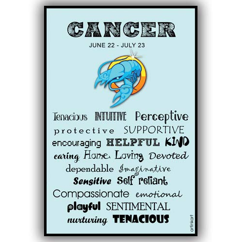 artinkart poster cancer traits astrology poster for room home