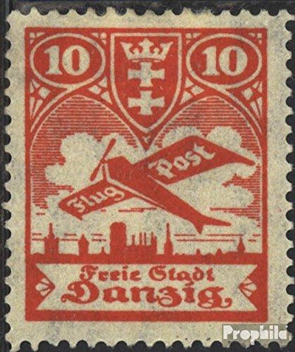 Prophila Collection Danzig 202-206 (kompl.Ausg.) 1924 Flugpost (Briefmarken für Sammler) Luftfahrt