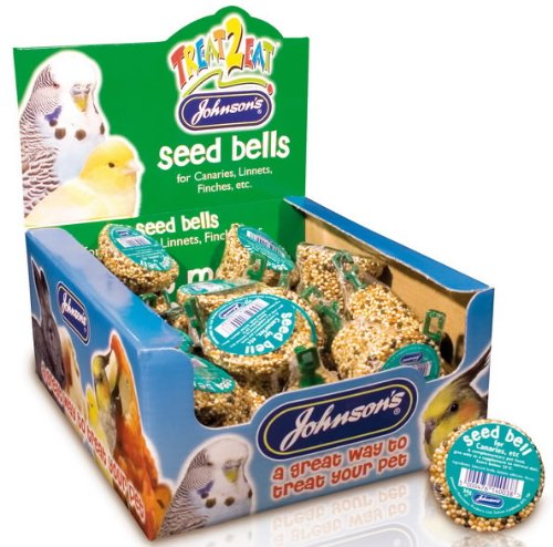 Canary & Finch Seed Bell Bird Treat 34g - Johnsons (TP)(JCBE)(FULL BOX 27) Pet-Bliss