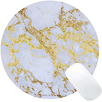 Wknoon Awesome trendy modern marble Mouse Pad Round Mat