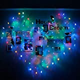 Yezijin Lover Heart Curtain Lights Party Wedding Fairy Outdoor Xmas Garden Decor Lamp Led String Lights (Multicolor)