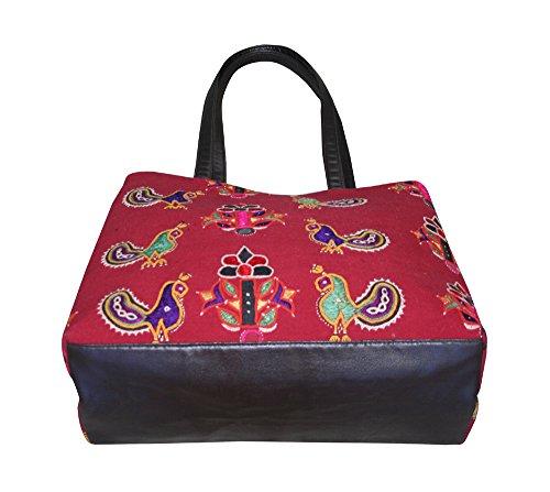 silkroude indischen bestickt Banjara Bag Vintage Retro Hobo Sling Tote Ethnic Tribal Gypsy