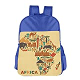Africa Map And Tribal Ethnic Children School Backpack Carry Bag For Kids Boy Girls