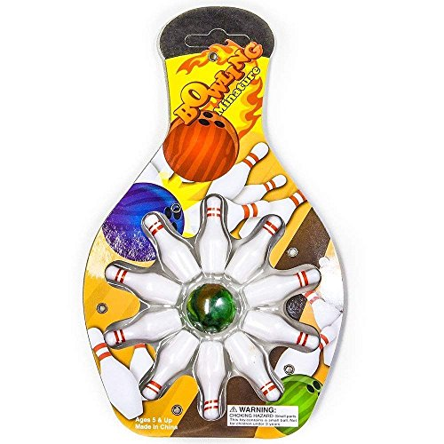 Miniature Bowling Game Set -24 Pack Deluxe - for Kids, Playing, Party, Fun, Boys, Girls, Bowlers Etc.- Kidsco by Kicko (Image #2)