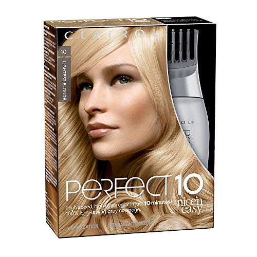 Clairol Perfect 10 By Nice 'N Easy Hair Color Kit (Pack of 2), 010Lightest Blonde Color, Includes Comb Applicator, Lasts Up To 60 Days