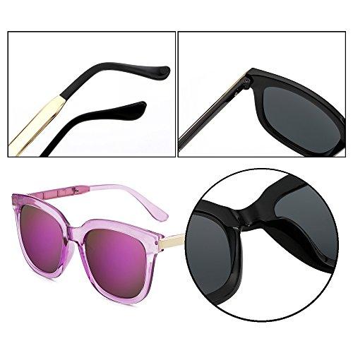 Cadre soleil miroir Violet mode KINDOYO polarisées Violet lunettes unisexes femmes ovales de soleil UV400 Lunettes de Lentille de soleil hommes et soleil protection lunettes non de lunettes lunettes F4x1qwnFa7