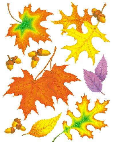 Eureka Fall Leaves Clings