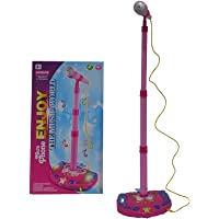 Toyexx Kids Karaoke Machine Children Microphone Music Toy Play Set & Adjustable Stand, AUX Cable to Connect to your mobile phone for Music