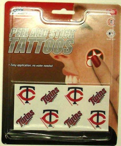 Minnesota Twins PEEL & STICK TEMPORARY TATTOOS Fan Gear BASEBALL MLB