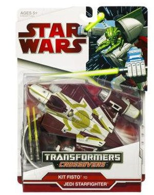 Star Wars Transformers Crossovers - KIT FISTO JEDI STARFIGHTER (Clone Wars Star Wars Kit Fisto)