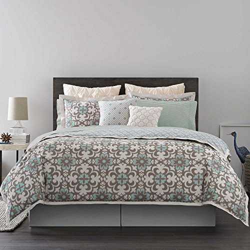 Real Simple Camille Reversible King Duvet Cover, Multi color