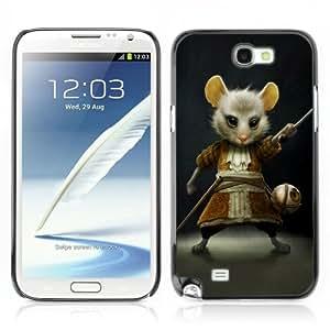 CaseCaptain Carcasa Funda Case - Samsung Galaxy Note 2 II / Alice In Wonderland Mouse /
