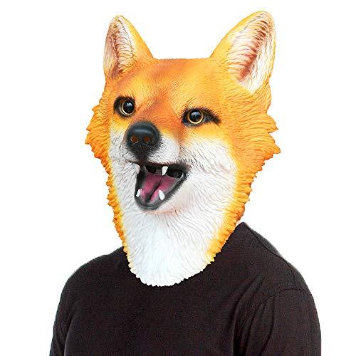 BuBinga Novelty Fox Animal Head Halloween Costume Masks Party Cosplay Decorations