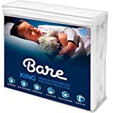 Bare Home King Size Premium Mattress Protector - 100% Waterproof - Vinyl Free Hypoallergenic - 10 Year Warranty - (King, White)