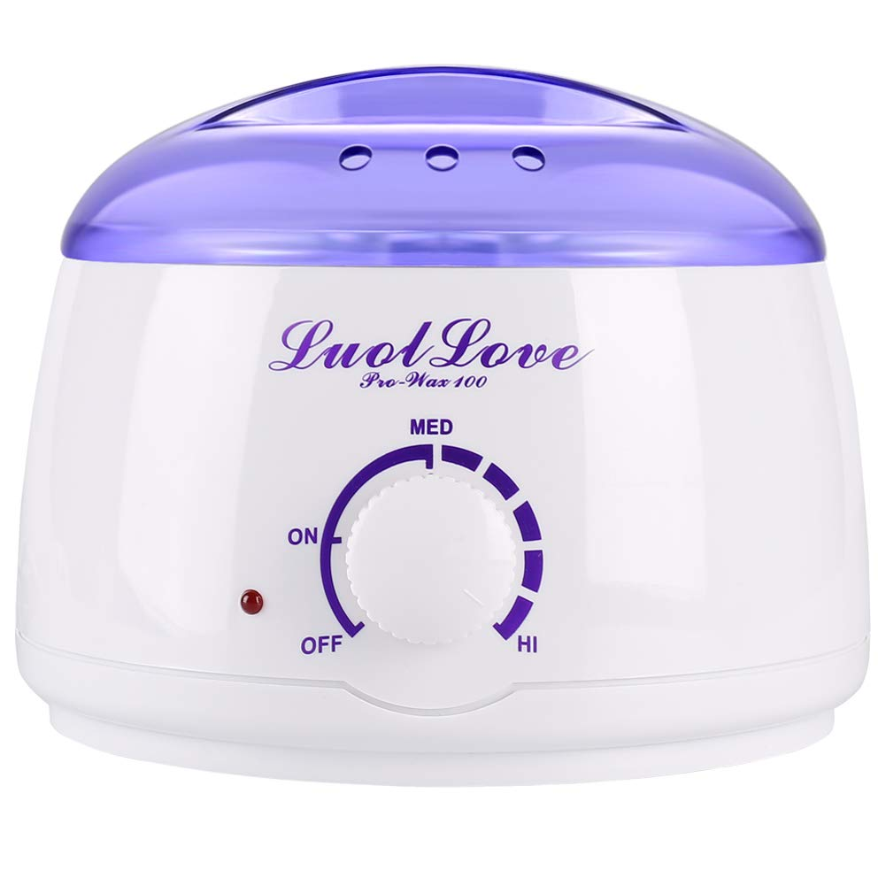 Wax Heater, LUOLLOVE® Pro-Wax 100 for All Wax Types, Professional Electric Wax Warmer with Adjustable Temperature Knob and AUTO Function, Removable 400ml Wax Container Pot for Easy Hair Removal at Home WMGoods