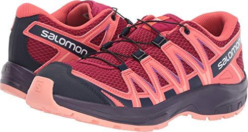 Salomon Kids XA Pro 3D J, Trail Running Shoe, cerise / dubarry / peach amber ,  Child 13k