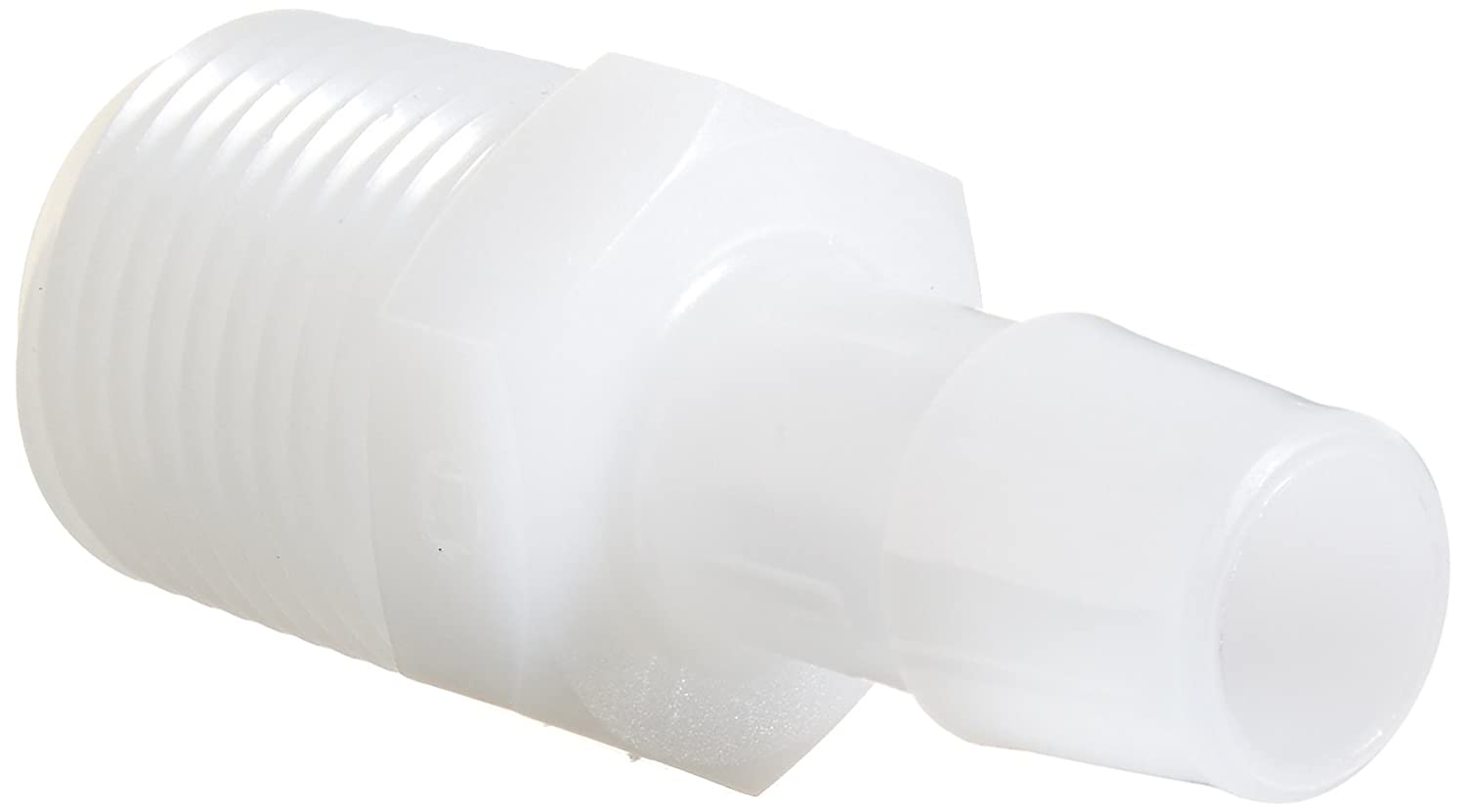 Eldon James A8-8HDPE High Density Polyethylene Adapter Fitting, 1/2-14 NPT to 1/2