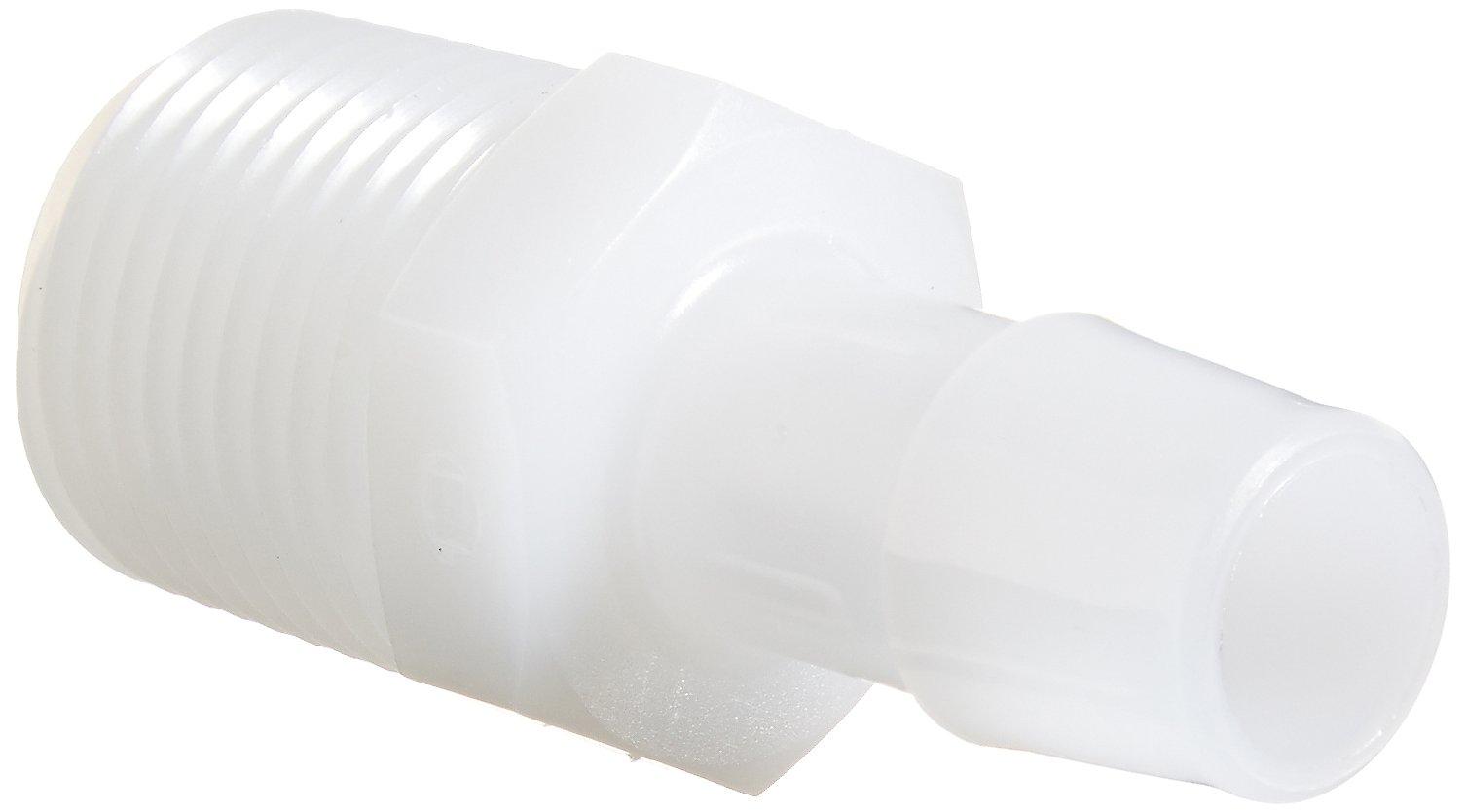 Eldon James A8-8HDPE High Density Polyethylene Adapter Fitting, 1/2-14 NPT to 1/2'' Hose Barb (Pack of 10) by Eldon James
