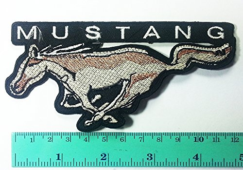 Ford Mustang Racing Sport Automobile Car Motorsport Racing Logo Patch Sew Iron on Jacket Cap Vest Badge Sign - Mustang Patch
