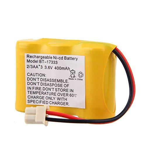 3.6V 400mAh Ni-CD Rechargeable Cordless Home Phone Battery for VTech BT-17333 BT17333 BT 17333 Cs2111 Cs5111 Cs5111-2 (Cordless Jasco Battery Phone)