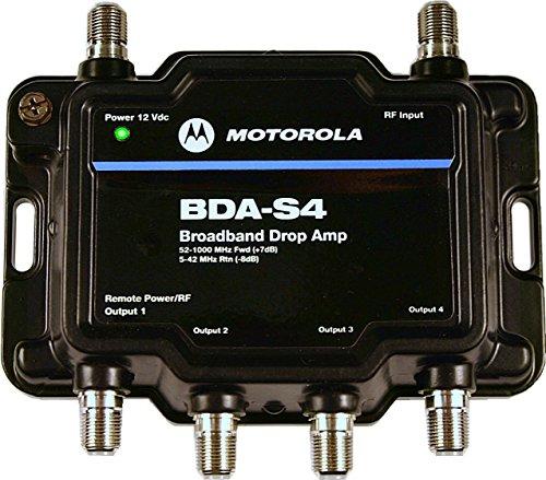 Motorola Signal Booster 4 Port Bda S4 Cable Modem Tv Hdtv