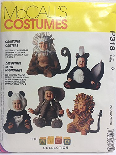 McCall's Pattern 7169 Todlers' Crawling Critters Costumes Size 3 -