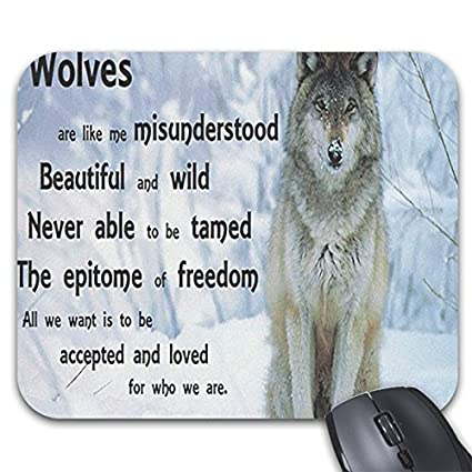 Amazon Com 9in X 7 5in Personality Cool Lone Wolf Quotes Desings