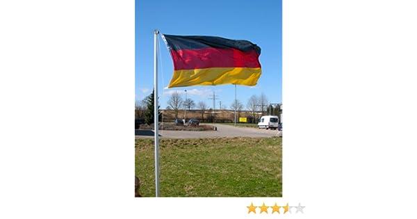 Mástil de bandera de 4 piezas 6, 2 m (incluye bandera de Alemania ...