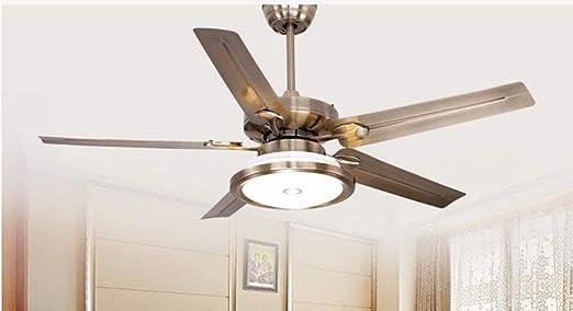 ZY * Ventilador de techo con dormitorio de lámpara Ventilador ...